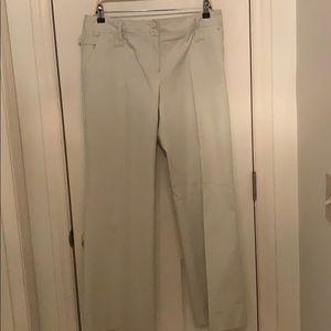 Ann Taylor - Loft cream pants Julie style